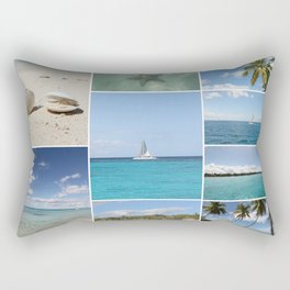 Scenic Caribbean Collage Rectangular Pillow