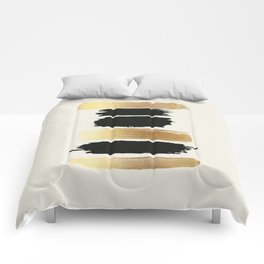 Brush Strokes (Black/Gold) Comforters