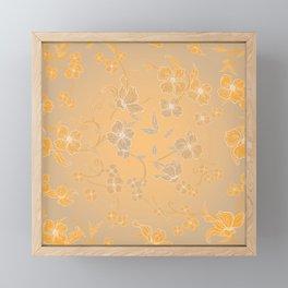 Creepy Flowers Pattern 6 Framed Mini Art Print
