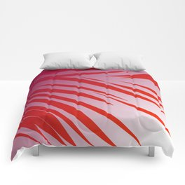 tiger wild lines pink  red -- SUNSET Comforters