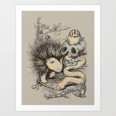 Haunters of the Waterless Art Print