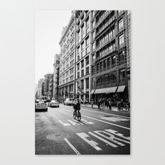 Afternoon Bicycle Ride in Soho - New York City Canvas Print