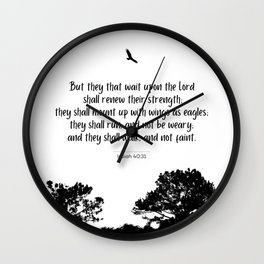Mount up with wings as eagles Wall Clock