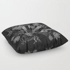Botanical Darkness Kaleidoscope Floor Pillow