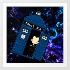 Tardis in space Doctor Who 9 Art Print