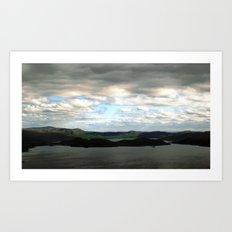 lake sweden. Art Print