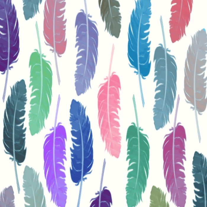 Colorful Feathers Comforters