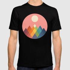 Rainbow Peak Mens Fitted Tee Black MEDIUM
