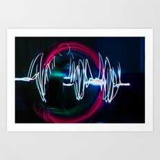 Sound Waves Art Print