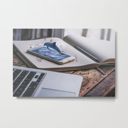 Mobile Aquatic Device Metal Print