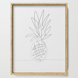 One Line Pineapple Serving Tray