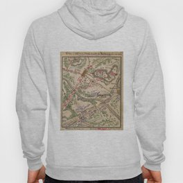 Vintage Map of The Battle of Chantilly (1865) Hoody