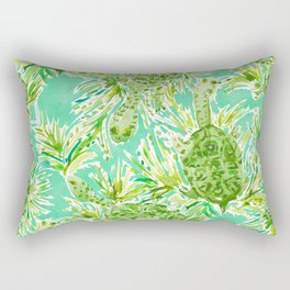 ALL INTENTS AND TURTLEST Snake Neck Turtles Rectangular Pillow