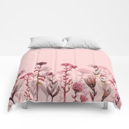 For Her ! Pink Flowers Comforters