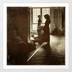 Women praying in Istanbul Art Print