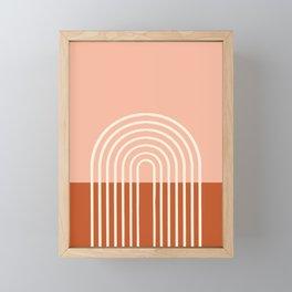 Terracota Pastel Framed Mini Art Print