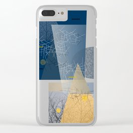twigs and trees Clear iPhone Case