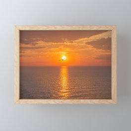 Sunset at the Baltic sea Framed Mini Art Print