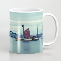 norway Mugs featuring Norway Ship's by Davide Carnevale