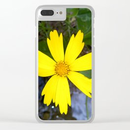 Little Yellow Flower Clear iPhone Case
