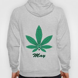 Birthstoned Leaf of Month, May Emerald Hoody