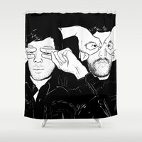 justice Shower Curtains featuring Justice by SAIMIN