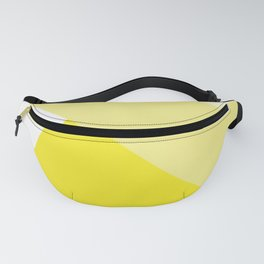 Simple Geometric Triangle Pattern - White on Yellow - Mix & Match with Simplicity of life Fanny Pack