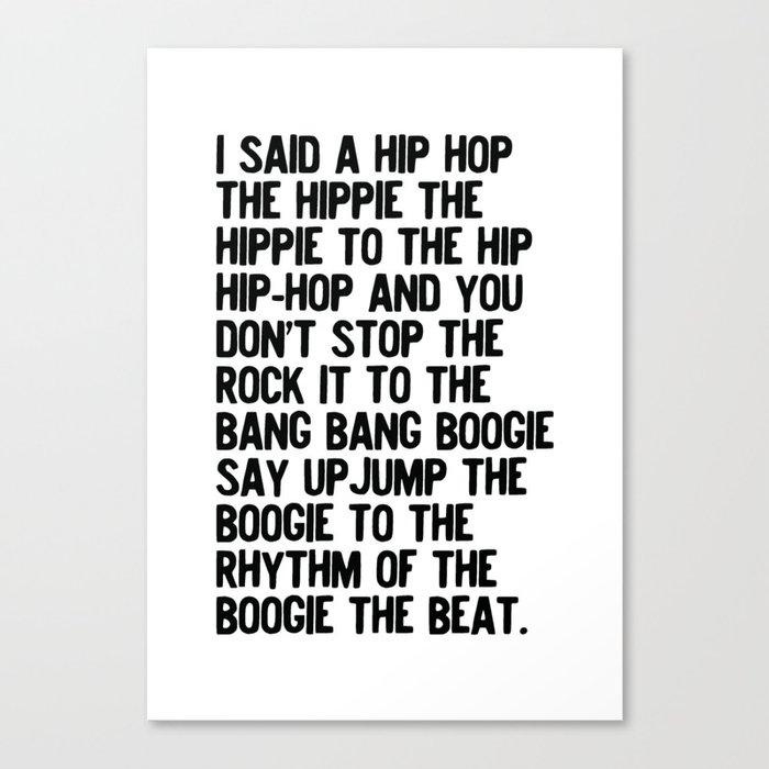 RAPPERS DELIGHT Hip Hop CLASSIC MUSIC Leinwanddruck
