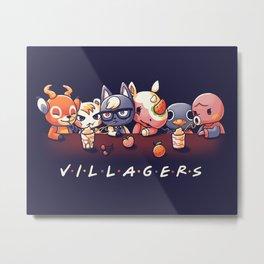 Villagers Metal Print