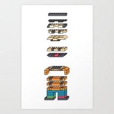 LEGO MAN  Art Print
