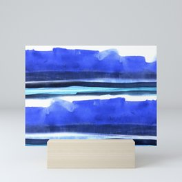 Wave Stripes Abstract Seascape Mini Art Print