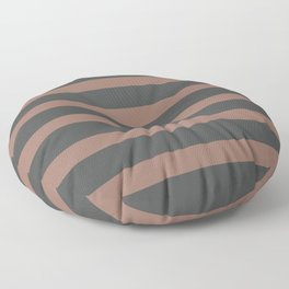 Brown Chocolate Stripes on Gray Background Floor Pillow