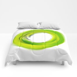 Soft Green Enso - Abstract Art By Sharon Cummings Comforters