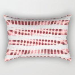 Red Diamonds Gross Stripes Rectangular Pillow