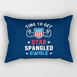 Time To Get Star Spangled Swole Rectangular Pillow