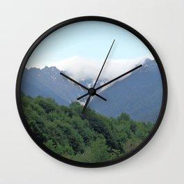 Breathtaking mountain view Wall Clock