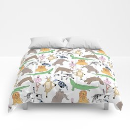 safari animal yoga Comforters