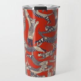 cat party retro Travel Mug
