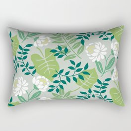 Leafy Floral Rectangular Pillow