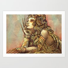 Zodiac Sign: Leo Art Print