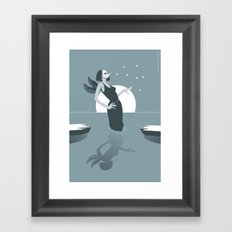 black swamp Framed Art Print