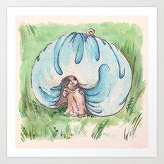 Empire of Mushrooms: Blue Leratiomyces Art Print