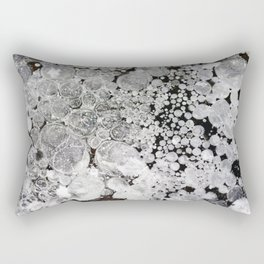 Close up background of melted ice. Rectangular Pillow
