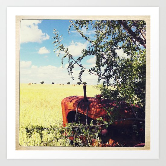 out in the farm  Art Print