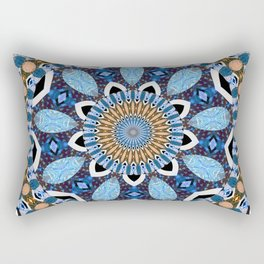 Teardrop Boho Fabric Lace Mandala Rectangular Pillow