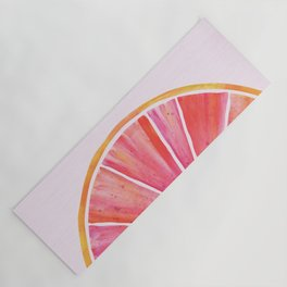 Sunny Grapefruit Watercolor Yoga Mat