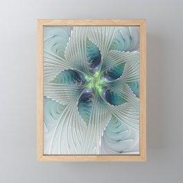 A Floral Fantasy, Abstract Fractal Art Framed Mini Art Print