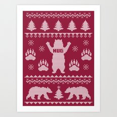Bear Hug Sweater Art Print