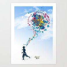 child creation chronicle 2 Art Print