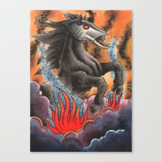 Through Flame Canvas Print